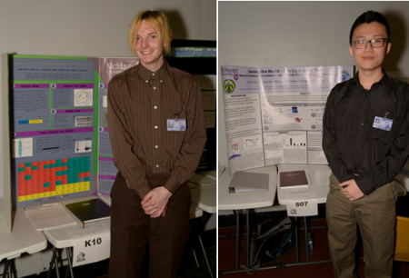 Bowdish lab members Leonard Rivet & Jason Fan present their award winning posters at BASEF 2013.