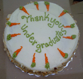 "Nothing says ""Thanks for all the hard work"" like carrot cake."